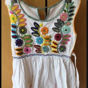Other - Embroidered Boho Dress Little Girl Handmade